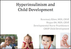 hyperinsulinism and child development