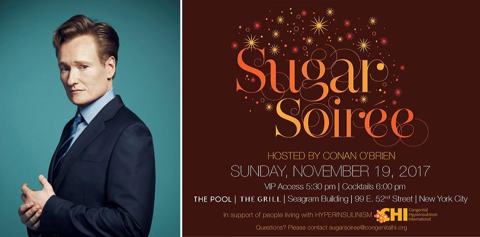 Conan O'Brien hosts the 2017 Sugar Soiree