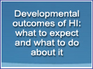 Developmental outcomes of hyperinsulinism