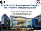 Report on Exendin drug for HI