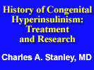 history of hyperinsulinism