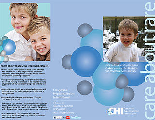 Brochure for CHI, Congenital Hyperinsulinism International