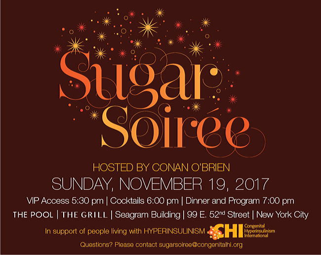 2017 Sugar Soiree fundraiser hosted by Conan O'Brien