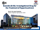 Diva De Leon.  Exendin (9-39).  Investigational Drug for the Treatment of Congenital Hyperinsulinism
