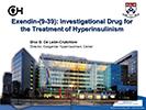Diva De Leon.  Exendin (9-39).  Investigational Drug for the Treatment of Congenital Hyperinsulinism