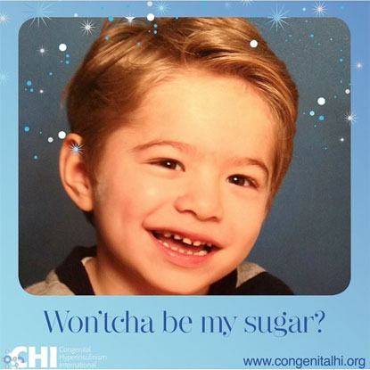 Be My Sugar campaign for congenital hyperinsulinism