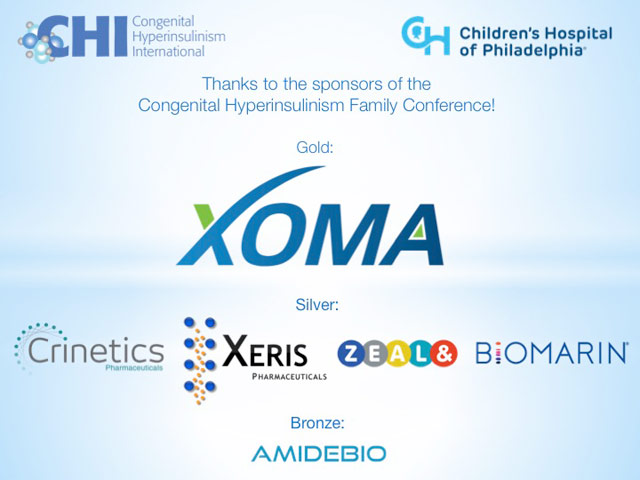 Sponsors for CHI Family Conference