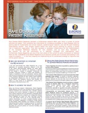Best Practices Patient Registries