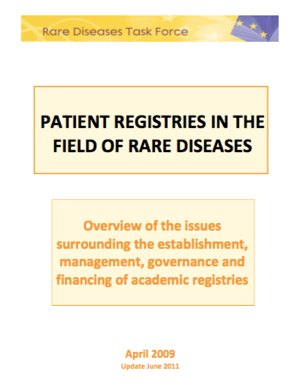 Best Practices Rare Disease Task Force
