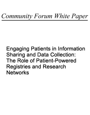 Community Forum White Paper