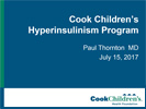 Cook Childrens HI Program