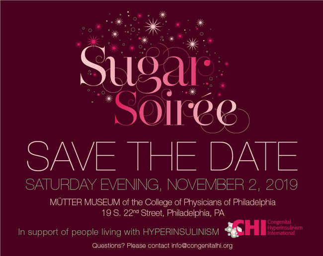 announcement for the 2019 Sugar Soiree hosted by CHI